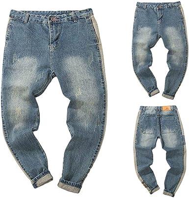 Cinnamou_Hombre Pantalones Elasticos, Pantalones Vaqueros Hombres ...