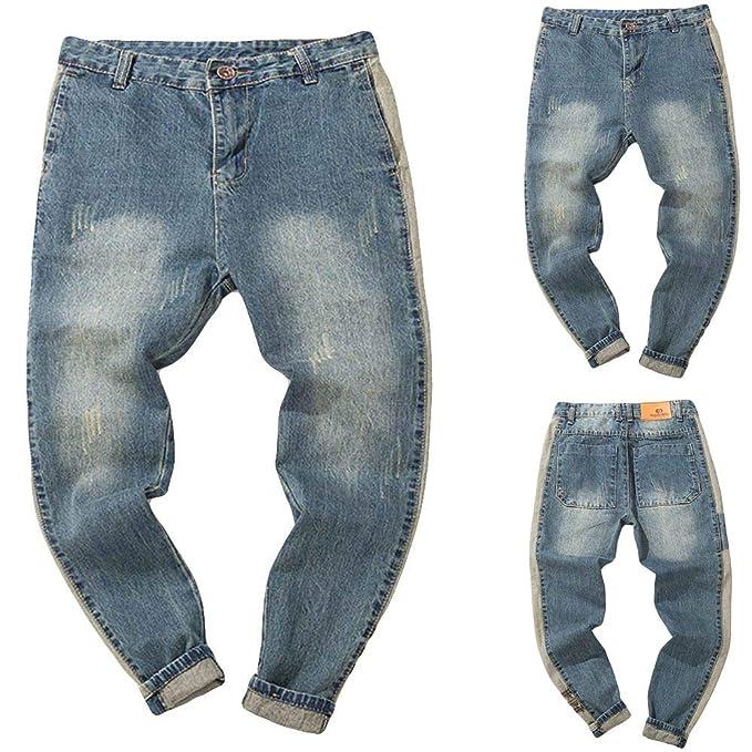Cinnamou_Hombre Pantalones Elasticos, Pantalones Vaqueros ...