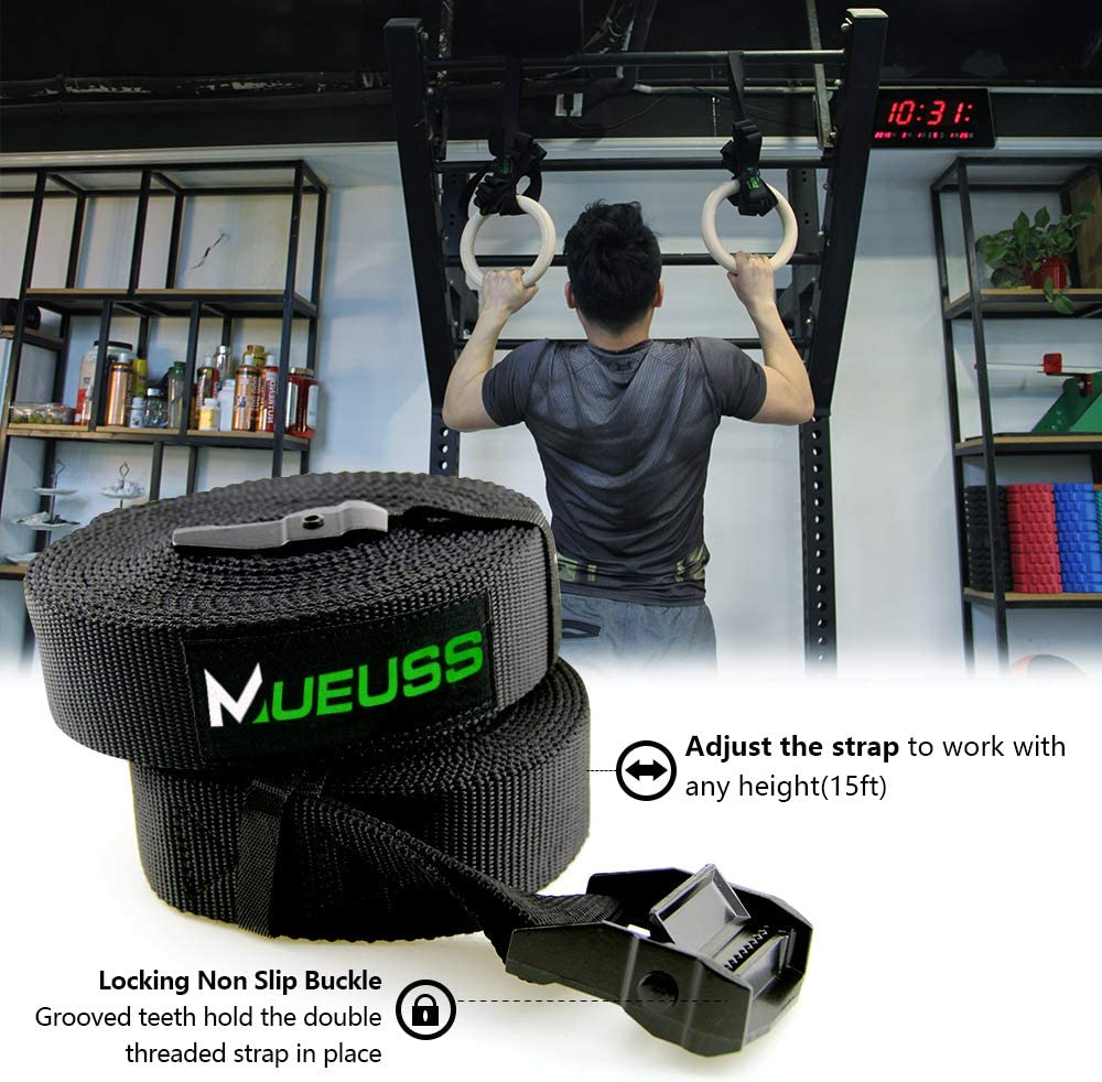 28//32mm Gymnastic Ring Strap Crossfit Fitness Training Exercise Strength Gym