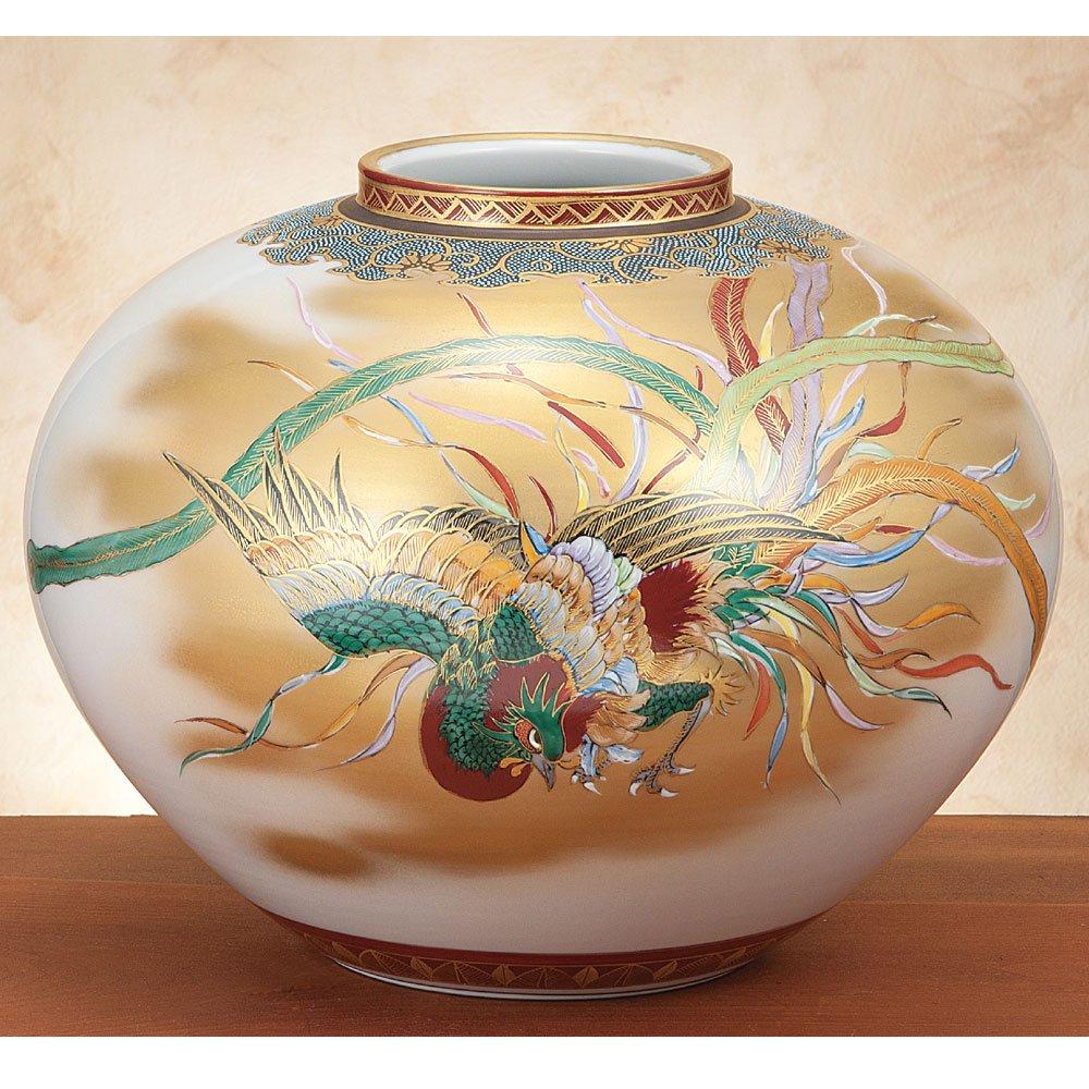 九谷焼 10号 花瓶 鳳凰図 B00YMNBI02