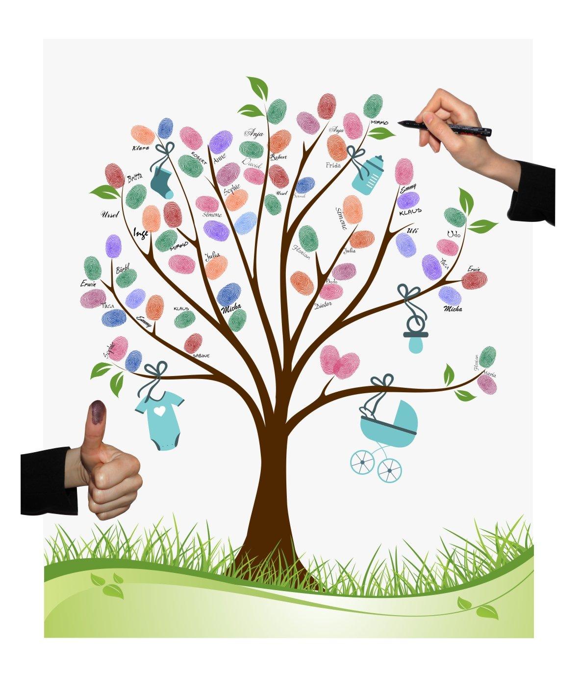 Póster con árbol de bodas, variosdiseños, juego para fiestas ...