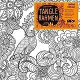 Tangle Rahmen Kakadu, 20x20 cm, zum Malen mit allen Stiftarten oder Farben