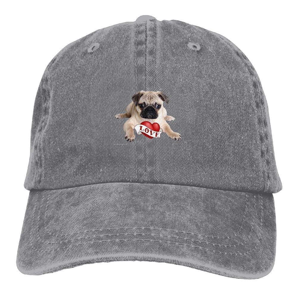 7b80e537 Classic Baseball Caps Love Pug Cute Outdoor Sport Fishing Hats Dad ...