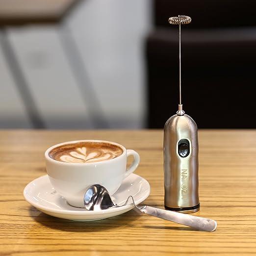 NATOZA espumador de leche de mano 2 velocidades mezclador de ...