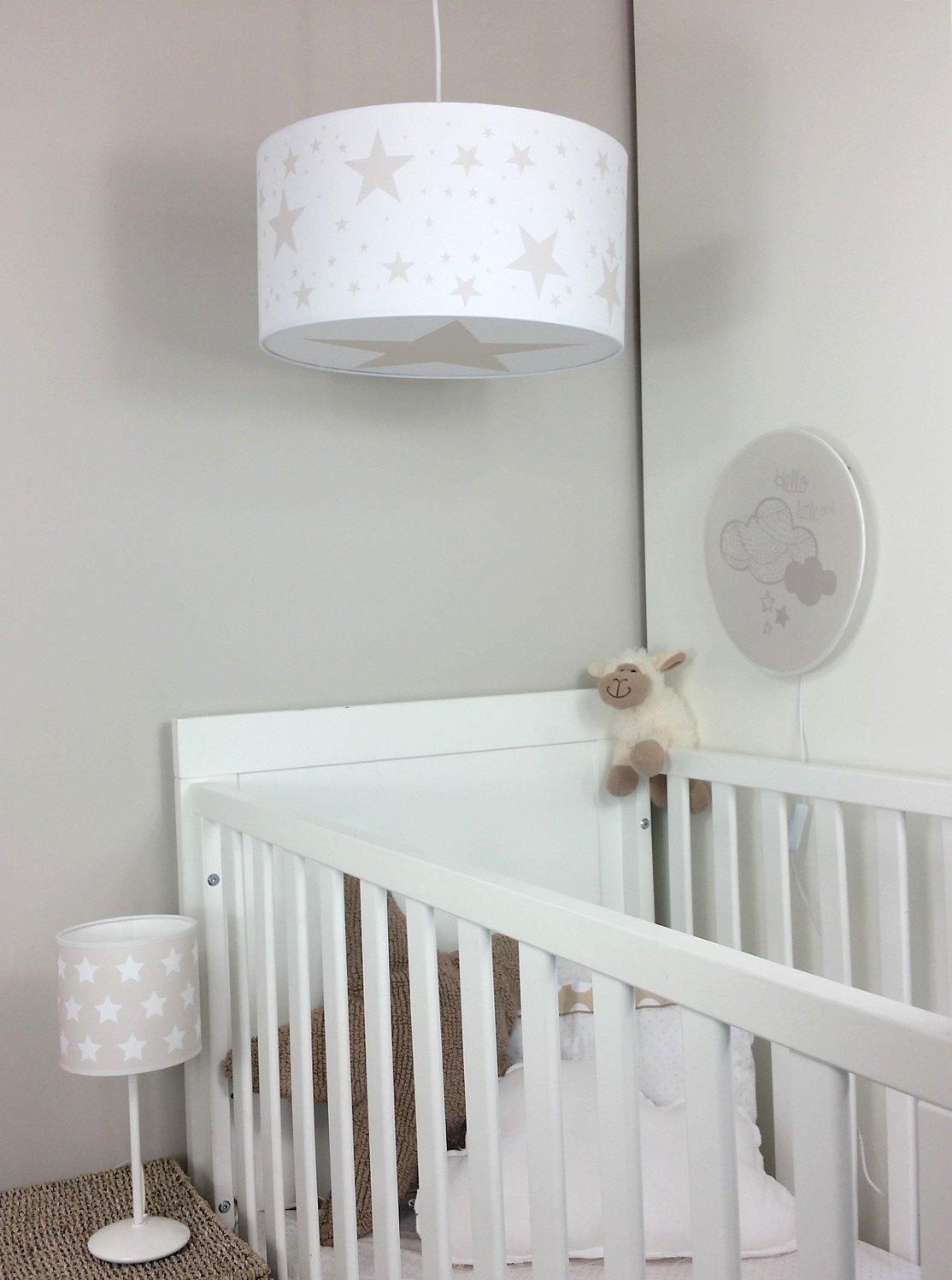 Luminaire enfant lampe de plafond Suspension Blanc avec Etoile