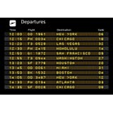 Wallmonkeys Departure Board - Editable Travel Vector Illustration Peel and Stick Wall Decals WM32354 (24 in W x 16 in H)