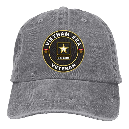 Dkvmkrvla U.S. Army Vietnam Era Veteran Adjustable Baseball Caps Denim Hats  Cowboy Sport Outdoor dc75140a306