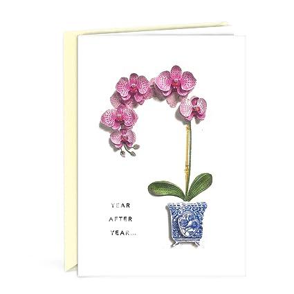 Amazon Hallmark Signature Birthday Card For Her Orchid
