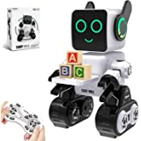Robots for Kids, Remote Control Robot Toy Intelligent Interactive Robot LED Light Speaks Dance Moves Built-in Coin Bank…