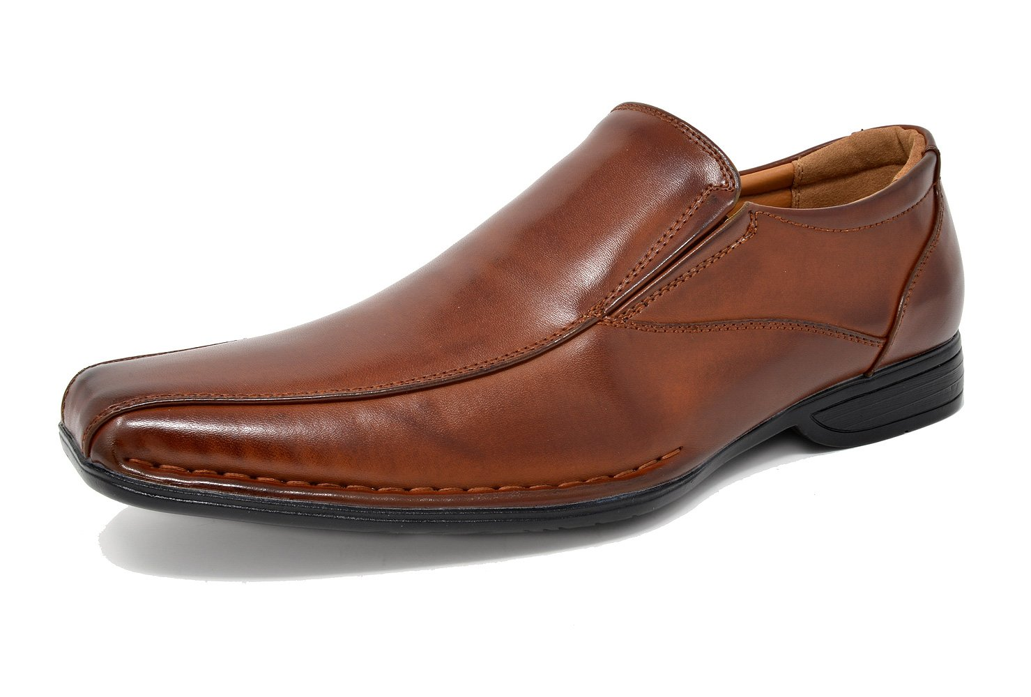Bruno Marc Men's Giorgio-1 Brown Leather Lined Dress Loafers Shoes - 11 M US