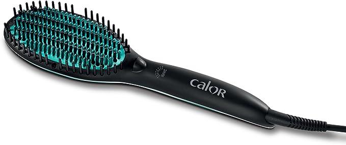 Calor CF5820C0 Brosse Lissante Coiffante Power Straight Spéciale Cheveux Frisés et Crépus Thermo Control