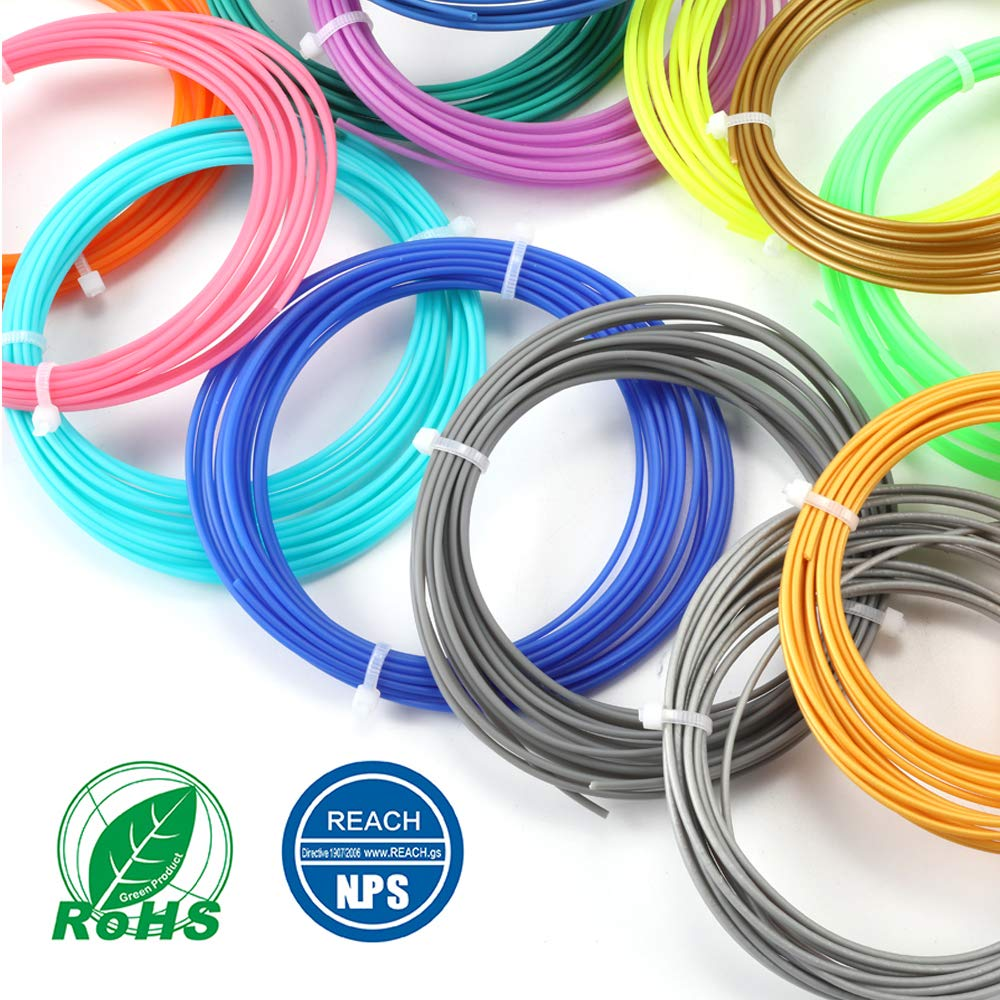 PLA Filament 20 Colors, 5M/16Ft Each Color,Total 328 feet,3D Pen Printer PLA Printing Material Refills 1.75mm,Dimensional Accuracy ± 0.02,Fit for  all the market' s 3d pens and printer. Sunlu UK-HO-PLA-5M20C