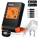 Morpilot Wireless Meat BBQ Thermometer for Smoker, Bluetooth Meat Probes Thermometer Smart Remote Digital Cooking Food with 6 Upgraded Probes for Outdoor Grilling Smoker Oven BBQ Indoor Kitchen