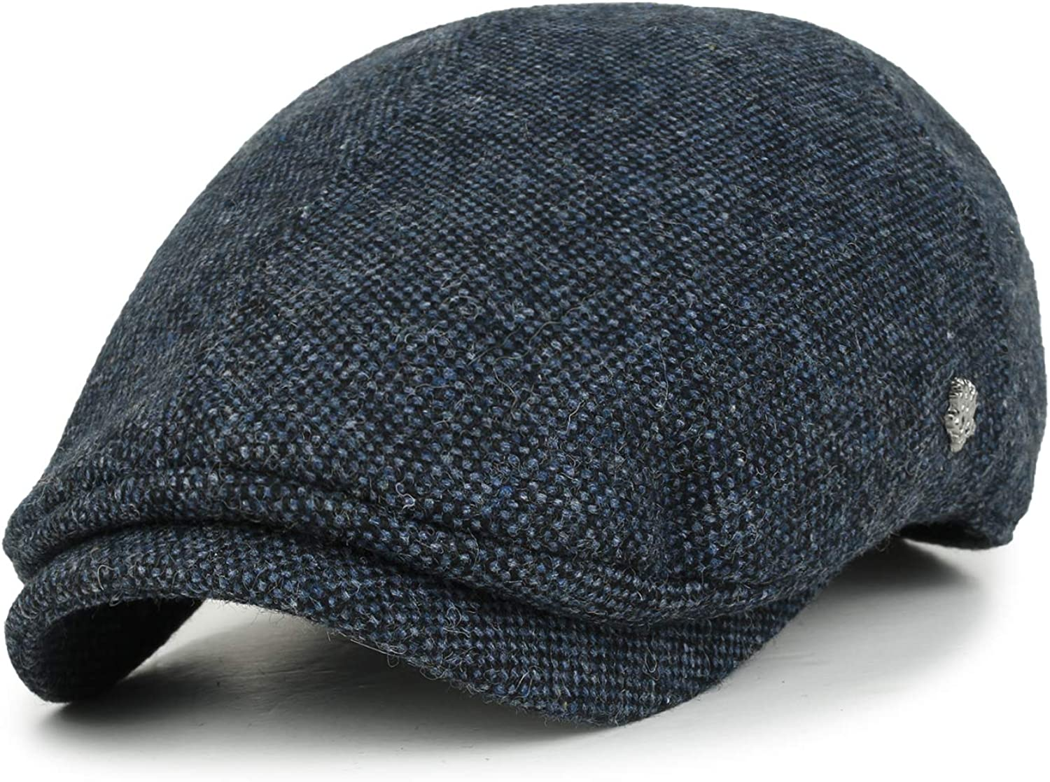 Eohak Mens Knitted Wool Duckbill Hat Warm Newsboy Scally Flat Cap Driving Hats
