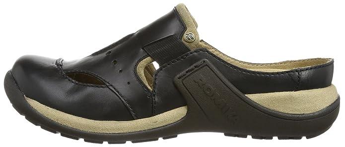 ROMIKA 10088 Sabots cuir - Noir - Schwarz (schwarz 100), 38 EU