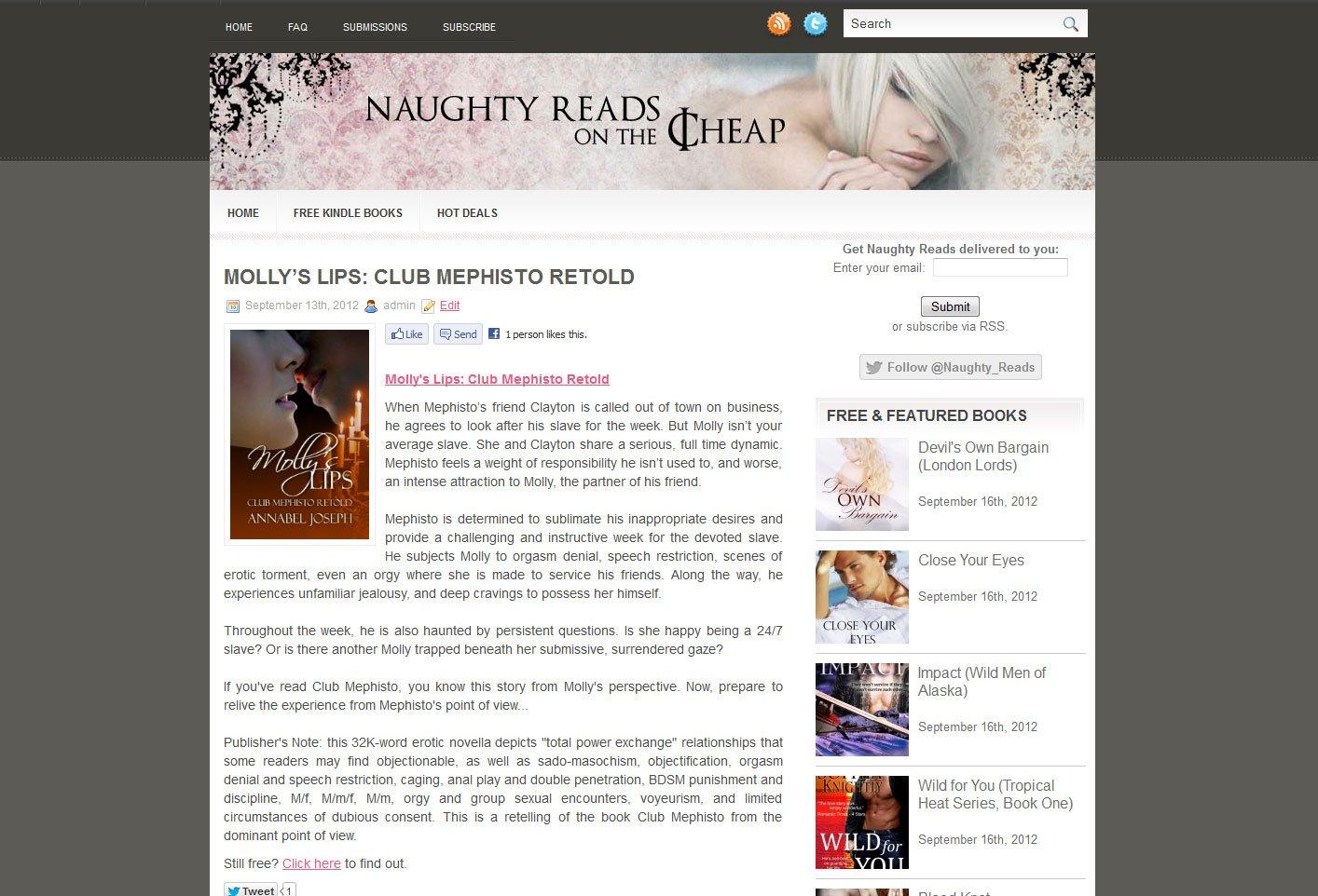 Get naughty website