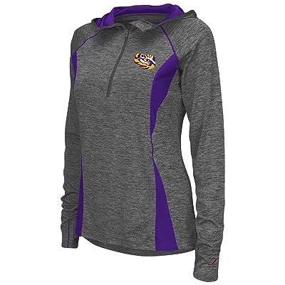 Colosseum Womens LSU Tigers Quarter Zip Wind Shirt