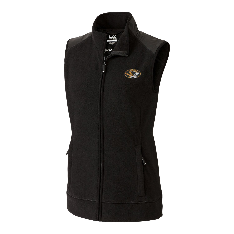 Black XLarge NCAA Womens Cedar Park Full Zip Vest