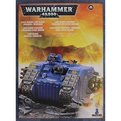 Space Marine Land Raider Redeemer Crusader Tank: Toys & Games