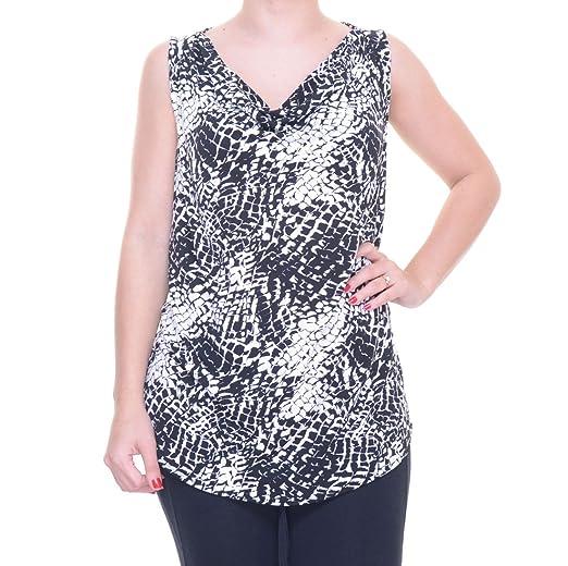 81e314f3e497b INC Womens Snake Print Cowl-Neck Tank Top B W M at Amazon Women s Clothing  store