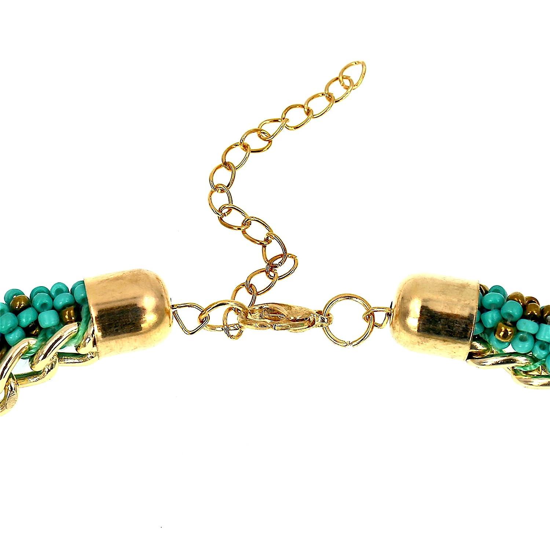 # 1286s3/Femme Ensemble de bijoux vintage Vert Perle Pendants doreilles Collier plastron
