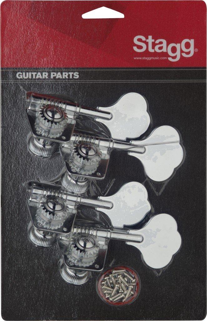 Stagg KG475CR Bass Guitar Machine Heads - Chrome