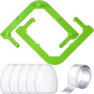 Triangle Tri-Holder Filter with 150 Pieces Sink Strainer Bag Sink Net and 2 Tapes, Kitchen Fliter Set Sink Garbage Storage Basket Triangular Mesh Hanging Net Bag for Kitchen Leftovers Garbage Holder
