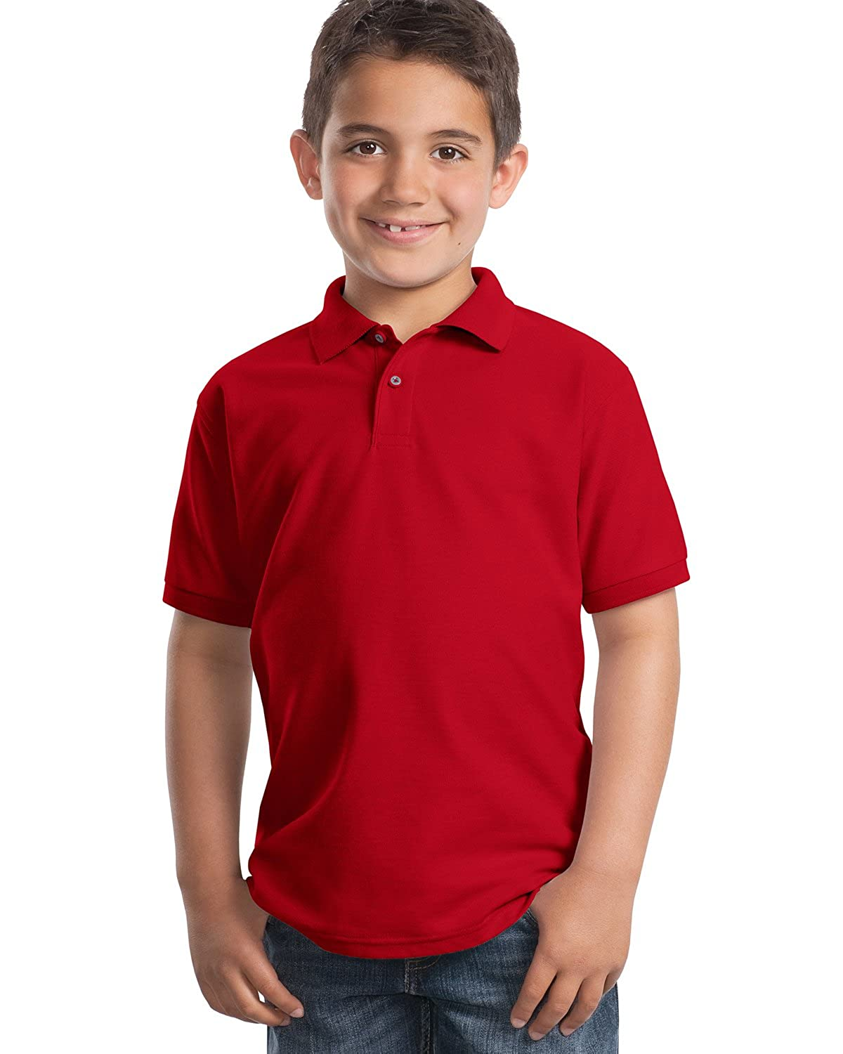 Port Authority Youth Classic Polo Sports Shirt White