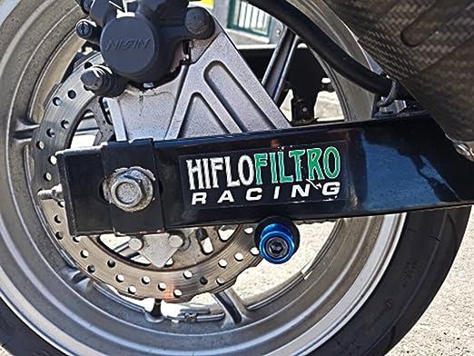 2pcs Motociclo Universale 8MM Nottolini Forcellone Appoggi per Kawasaki Z900 Z800 Z650 Z1000 Z1000sx// S1000RR S1000R S1000XR// CBR250R CBR600RR CBR900RR// Ducati 749//S 999//R//S Argento