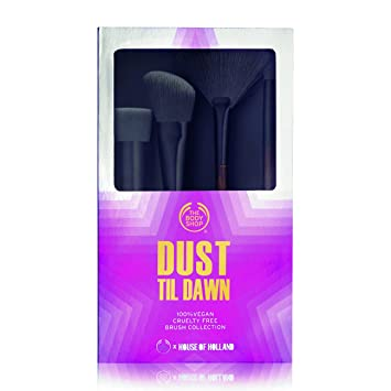Amazon.com : The Body Shop Makeup Brush Collection, 4pc Cruelty-Free Makeup Brush Gift Set : Beauty