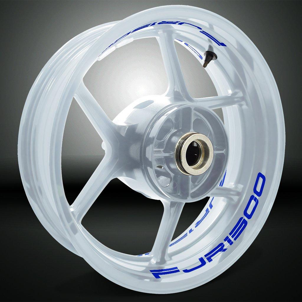 Blanc Brillant Autocollant de Jante de Moto Inner Rim Tape pour Yamaha FJR 1300