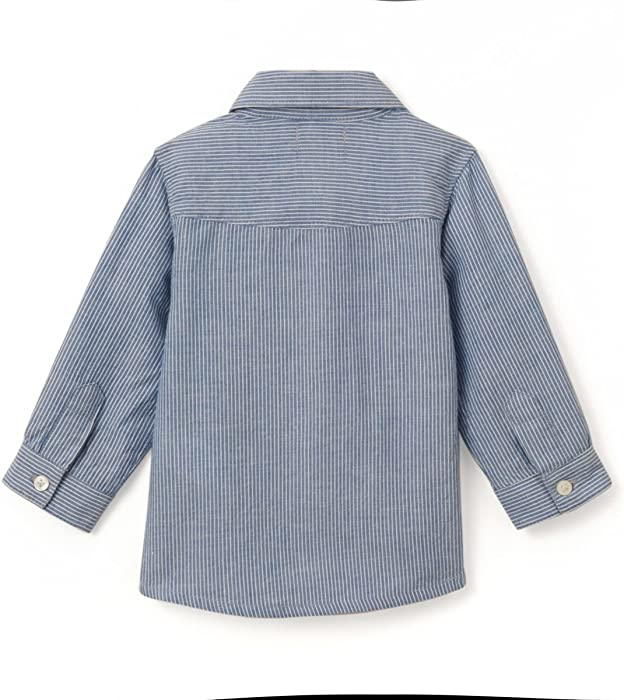 La Redoute Collections Big Boys Long-Sleeved Striped Shirt 1 Month-3 Years
