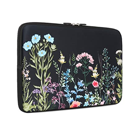 48294f266d00 Laptop Sleeve, iCasso 13-Inch Stylish Soft Neoprene Sleeve Case Cover Bag  for MacBook Air/Pro/Retina 13 Inch/iPad Pro, Weeds