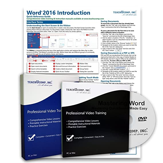 amazon com learn microsoft word 2016 deluxe training tutorial