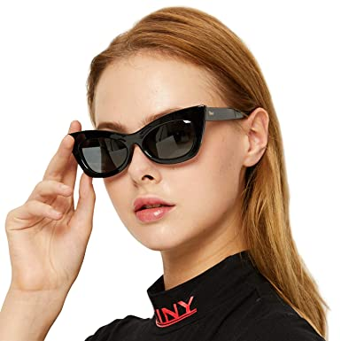 b29977fac37 Image Unavailable. Image not available for. Color  DUCO Women Sunglasses  Retro Vintage Cateye Sunglasses for Women Polarized ...