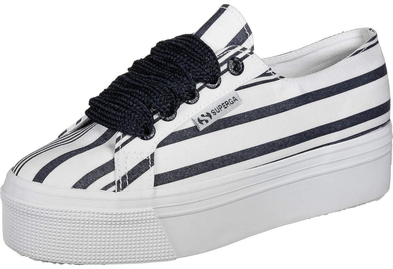 Superga 2790 COT Multi Stripe W Sneakers Donne Bianco