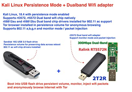 Amazon com: Dualband WiFi Sniffer, 802 11 Packet Injection for Kali