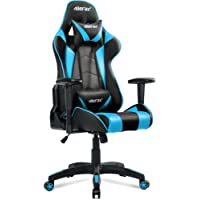 Merax Racing Gaming Stuhl Computerstuhl Ergonomic Design Modern höhenverstellbarer Schreibtischstuhl Bürodrehstuhl PU mit Verstellbaren Armlehnen und Wippfunktion