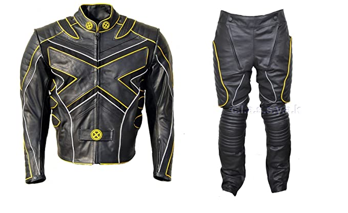 Amazon.com: Classyak Xmen Moto Traje de piel con armadura ...