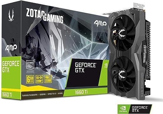 ZOTAC Gaming Geforce Gtx 1660 Ti Amp 6Gb Gddr6 192-Bit Graphics Card Super Compact Icestorm 2.0 Cooling , ZT-T16610D-10M