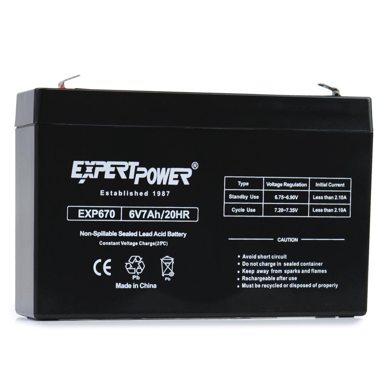 ExpertPower EXP670 6 Volt 7.0 Ah Rechargeable Battery