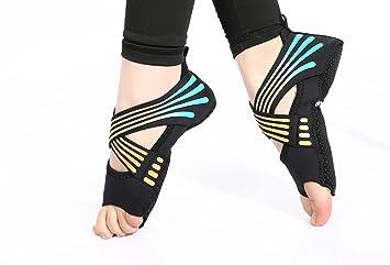 Aiyoyo Yoga Schuhe Yoga Socken 2 In 1 Anti Rutsch Atmungsaktiv