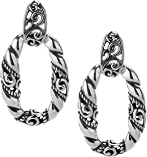 product image for Carolyn Pollack Sterling Silver Door Knocker Earrings