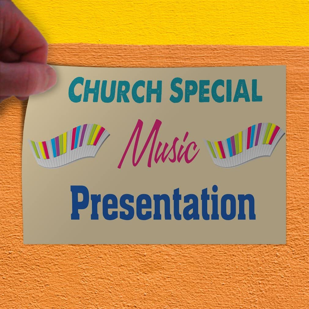 One Sticker 69inx46in Decal Sticker Multiple Sizes Church Special Music Presentation #1 Hobbies Church Outdoor Store Sign Blue