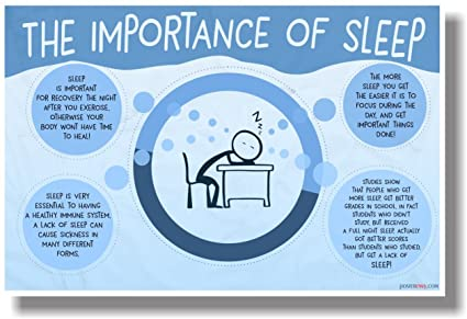 Amazon The Importance Of Sleep NEW Health And Safety POSTER Best Sewing Machine Health And Safety Poster