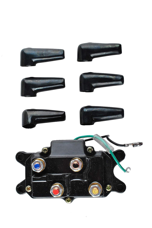 Podoy 250A Solenoid Relay Contactor Winch Rocker Switch Thumb for ATV UTV 4x4 Kit 12V 63070 62135 74900 2875714 70715