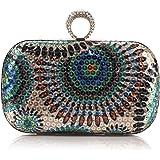 Tenflyer El bolso del pavo real granos círculo partido de las lentejuelas de la tarde del bolso