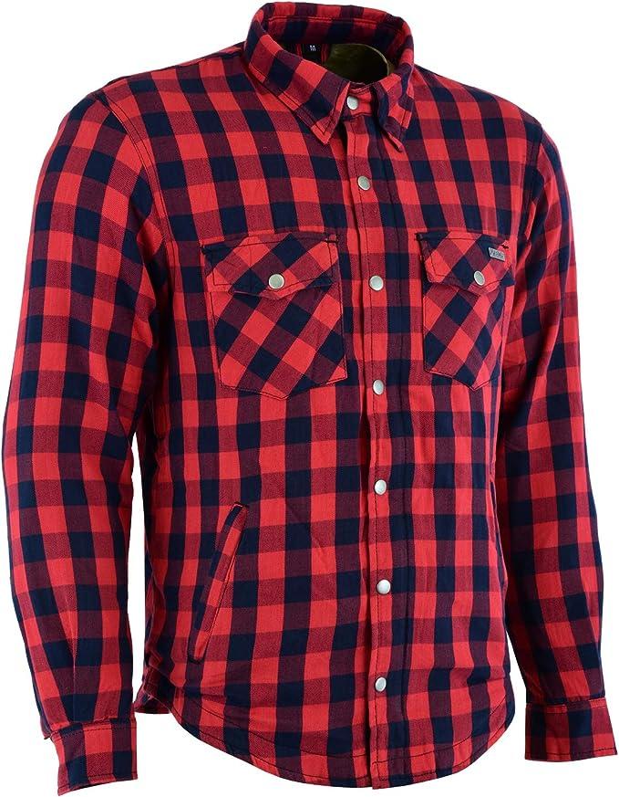 Kevlar - Camisa de Manga Corta, diseño Vaquero aramida Rojo y Azul Medium: Amazon.es: Coche y moto