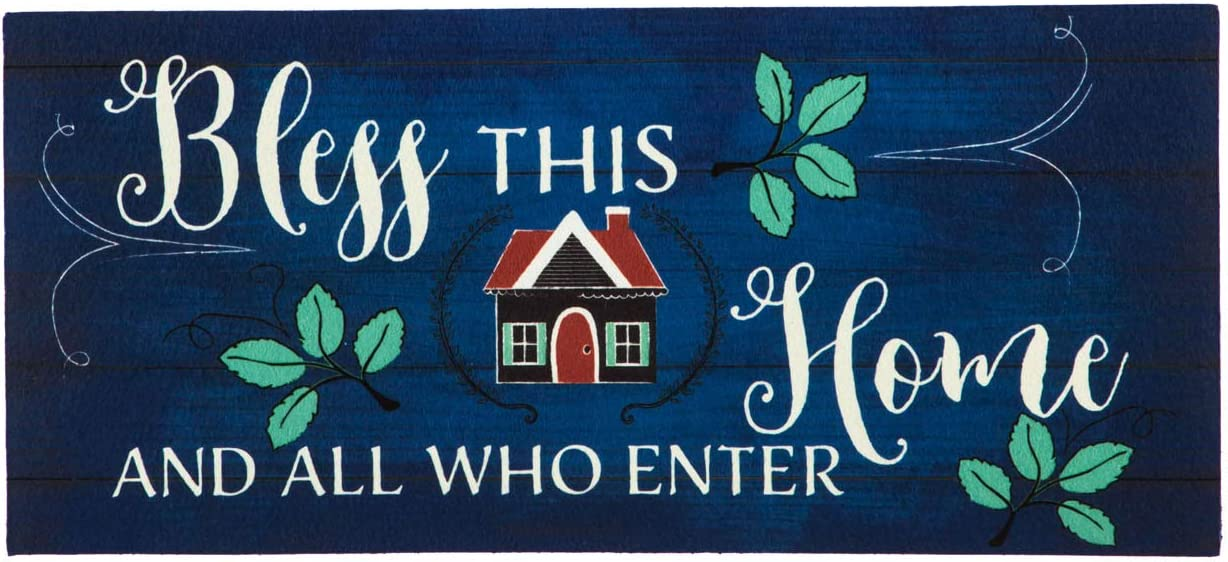 Evergreen Flag Bless This Home Shiplap Sassafras Switch Mat - 22 x 1 x 10 Inches