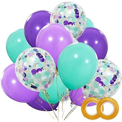 Amazoncom Mermaid Balloons 40 Pack 12 Inch Light Dark Purple